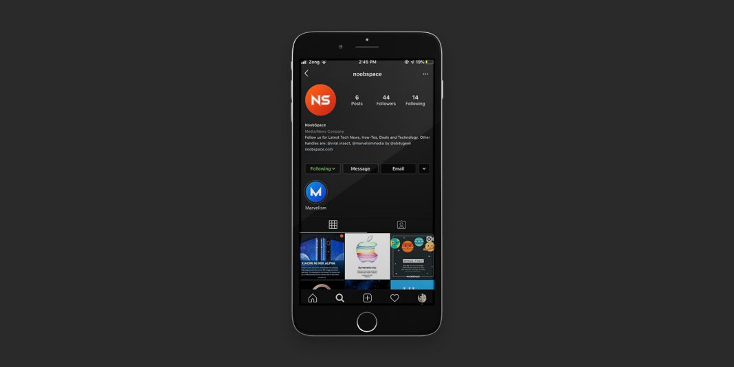 Featured image for Instagram Dark Mode news for NoobSpace.com