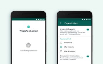 whatsapp fingerprint unlock support