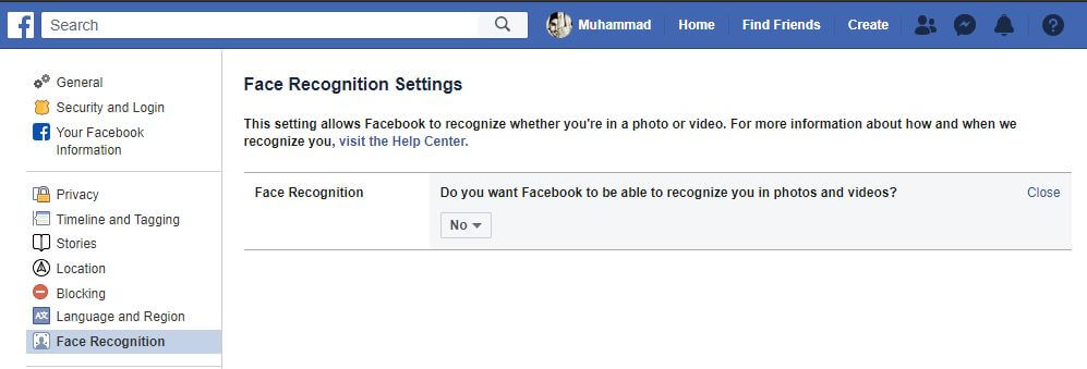 Turn Off Face Recognition on Facebook