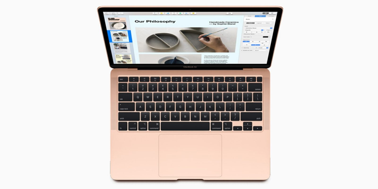MacBook Air 2020 Rose Gold Color