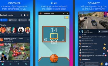 Facebook gaming app for Android