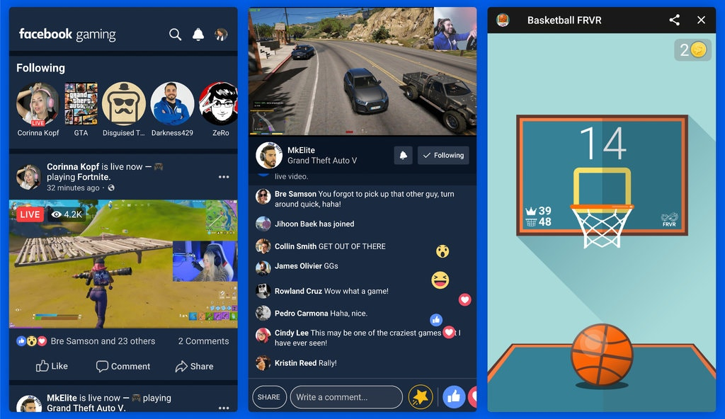 Facebook gaming app android in action