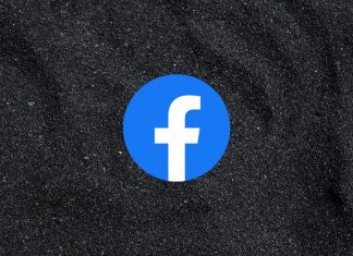 Facebook logo and dark mode