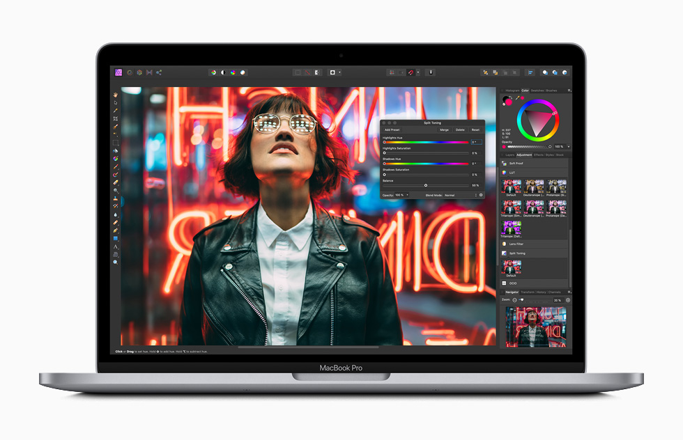 Performance Boost in the new 13-inch MacBook Pro 2020 image via Apple