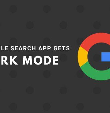 Google search app gets dark mode