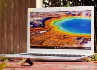An outdoor photo of Chromebook