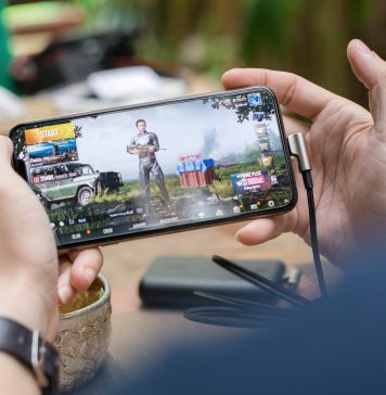 A person playing PUBG after downloading from the Play Store