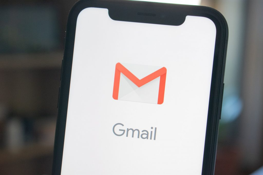 Gmail logo on a phone app screenshot