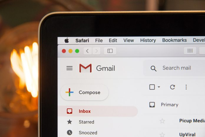 A photo of Gmail web open in Safari for macOS
