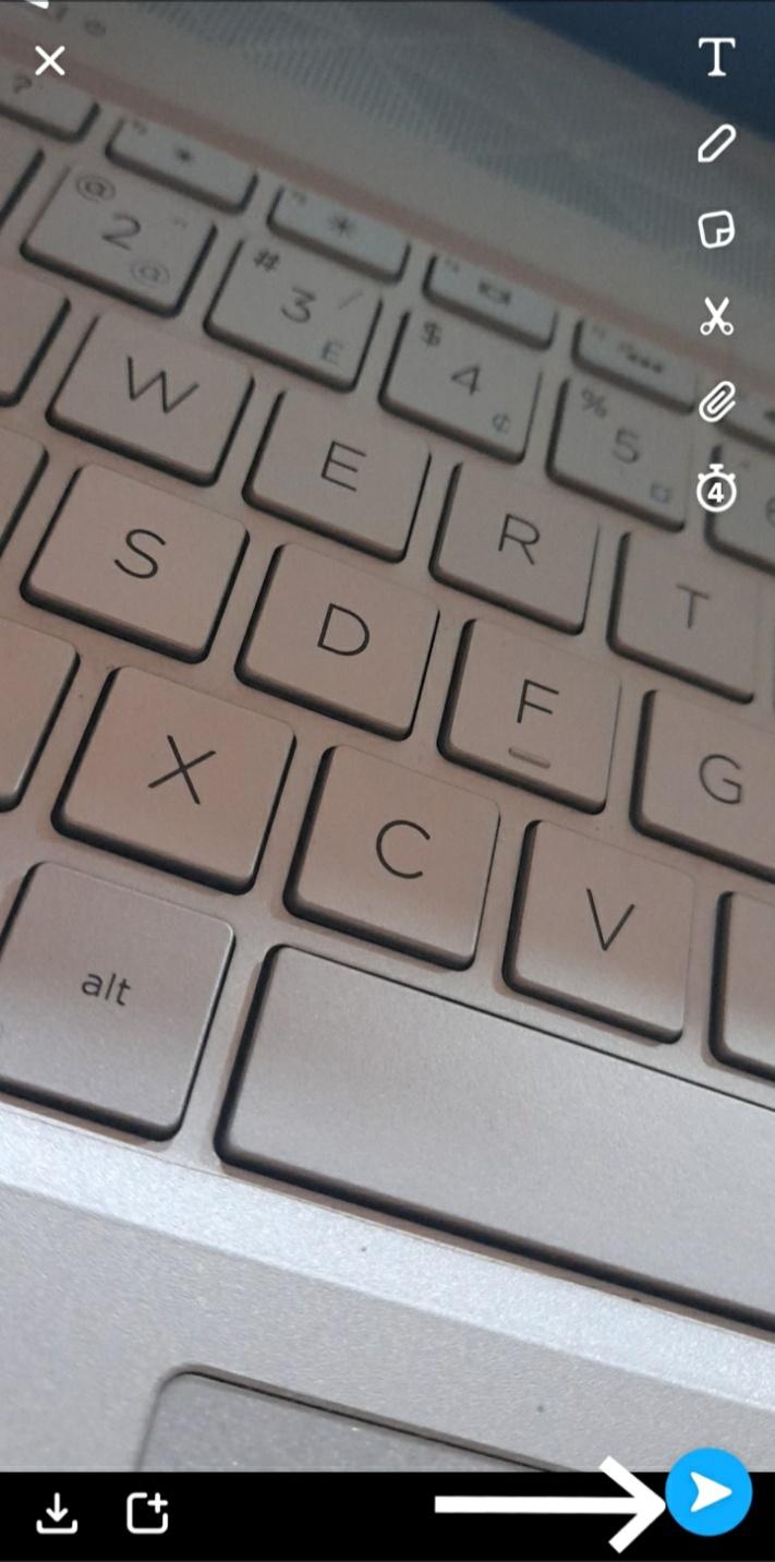screenshot of a keyboard snap