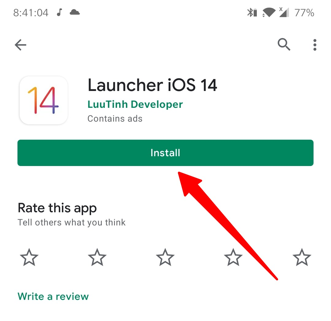 Install iOS launcher on Android