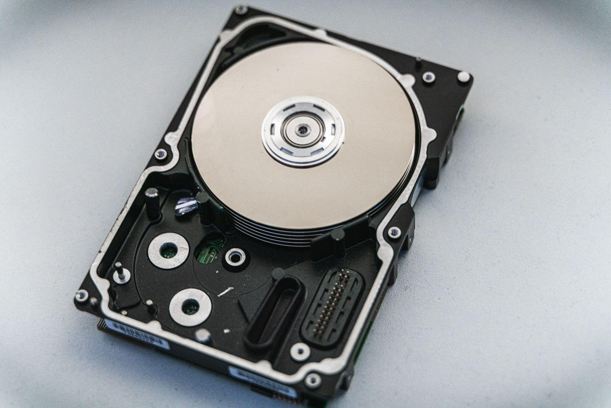 An image of a hard disk